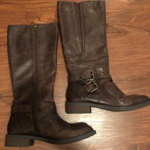 Espresso calf boots